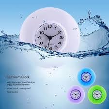 online shop cute waterproof wall clock with sucker bathroom