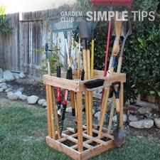 Diy Garden Tool Storage Ideas Get Organized Diy Garden Tool Storage Garden Club