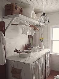 Primitive Laundry Room Decor by Rustic Farmhouse Laundry For Small Spaces I Want A Pretty Little