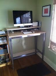 Adjustable Stand Up Desk Ikea Hack A Standing Desk From Ikea Intended For New Home Stand Up Desk