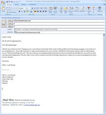 how to send cover letter via email how to
