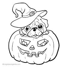 pug jack u0027o u0027lantern coloring desenhos jack