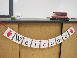 Welcome Back Decorations by Welcome Banner First Day Of Welcome Back Classroom