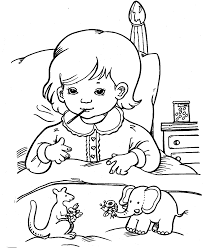 sick child coloring page coloring page coloring home