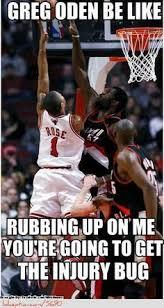 Derrick Rose Injury Meme - derrick rose getting injury bug from greg oden http