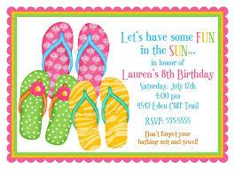 flip flop invitations flip flops summer pool party beach