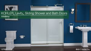 installation levity sliding shower and bath doors youtube