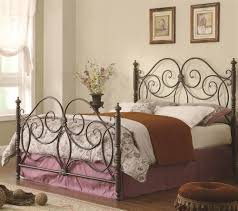 bedroom modern and metropolitan queen metal headboard