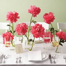 simple table decorations fascinating pink nuance at dining table which is designed using