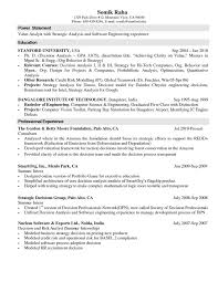Computer Science Resume Example by Science Internship Resume Mechanical Engineering Internship