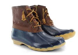 womens sperry duck boots size 9 womens sperry saltwater duck boot navy