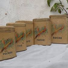 shop vintage french kitchen canisters on wanelo
