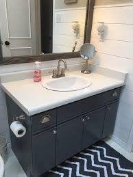 Bathroom Cabinets In Home Depot Bathroom Update How To Paint Laminate Cabinets U2014 The Penny Drawer
