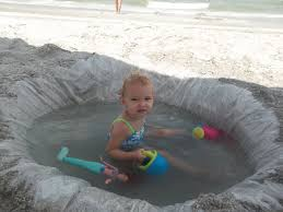 make a thrifty diy kid friendly pool at the beach in lieu of