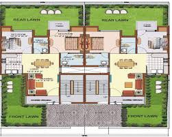 row home floor plans row housing plans home layout design free house style pinterest
