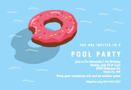 pool party invitations free printable summer pool party invitation templates