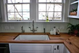 sink cutouts in custom wood countertops edge grain reclaimed white oak countertop with undermount sink and tung oil citrus finish