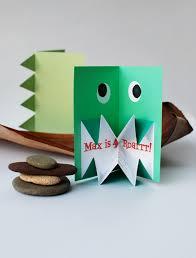 make amazing pop up origami dinosaur invitations