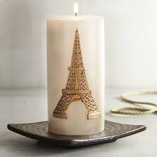 Eiffel Tower Ornaments Eiffel Tower 3x6 Unscented Pillar Candle Pier 1 Imports