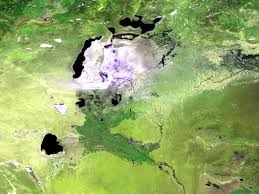 Aral Sea Map Image Proba V Minisatellite Images The Dying Aral Sea