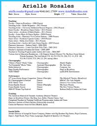 Spanish Resume Examples by The Best And Impressive Dance Resume Examples Collections
