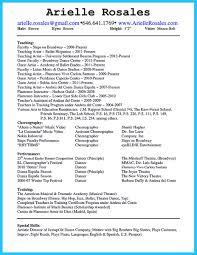 Acting Resume Beginner Samples Acting Resume Sample Special Skills