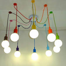Colored Chandelier Light Bulbs Edison Retro Spider Chandelier Lighting Colorful Pendant Lamp10