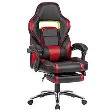 de fauteuil de bureau langria fauteuil de bureau racing pour gaming cuir pu cousin