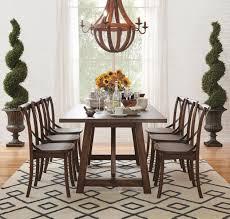 art van dining room sets lindsey dining collection trestle table burnished oak finish