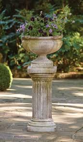 Urn Planters With Pedestal Charleston Gardens