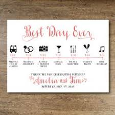 wedding itinerary wedding day itinerary for guests printable editable blank