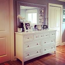 bedroom decor on dresser dresser mirror and hemnes