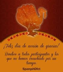 feliz thanksgiving day thanksgiving vocabulary spanish english happy thanksgiving