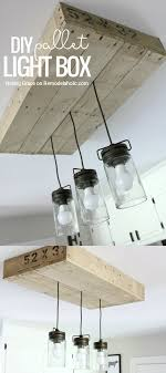 unique diy farmhouse overhead kitchen lights remodelaholic how to make a pallet wood light box