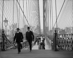 brooklyn bridge walkway wallpapers afflictor com walking across the brooklyn bridge 1905