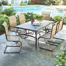 Mosaic Patio Table And Chairs by Furniture Ideas Hexagon Patio Table With Brick Motif Tiles And 6