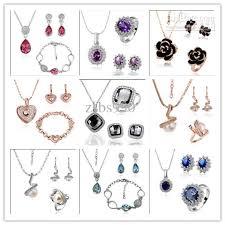 swarovski fashion necklace images Best plated 18k gold swarovski elements crystal jewelry set jpg