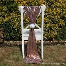 cheap sashes cheap gold sequin chair sashes fomal wedding party decor