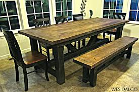 Dining Table Without Chairs Benches Dining Tables And Benches Full Size Of Rustic Trestle