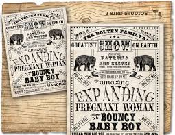 circus baby shower invitation vintage circus flyer inspired