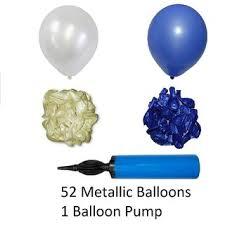 metallic balloons blue and white metallic balloons with balloon for birthday