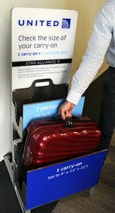 does united charge for luggage united s strict new carry on baggage rules go into effect the