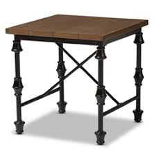 Distressed Wood End Table End Tables Living Room Furniture Affordable Modern Furniture