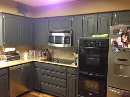 Refinishing Veneer Kitchen Cabinets Diy Painting Stained Kitchen Cabinets Awsrx Com
