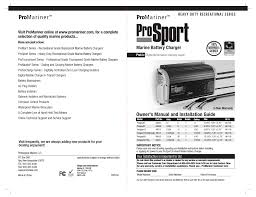 promariner prosport gen 3 user manual 14 pages