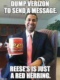 Reeses Meme - dump verizon to send a message reese s is just a red herring