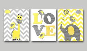 Yellow Baby Room by Yellow And Gray Baby Boy Nursery Art Print Children Wall Art