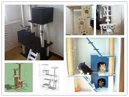 Free Diy Cat Furniture Plans by 41 Best Cat Tree Images On Pinterest Cat Furniture Cat Condo