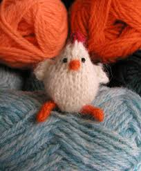small chicken hand knitted things tiny chicken ii
