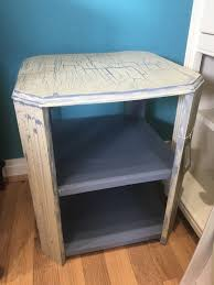 small octagonal shabby chic crackle glazed table in autentico